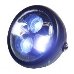 "Koplamp LED 6,5"" matzwart"