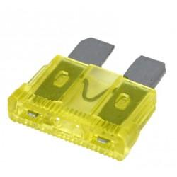 Steek-zekering 20A geel