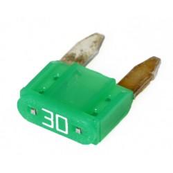 Steek-zekering mini 30A groen