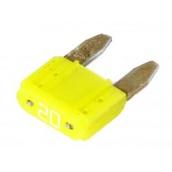 Steek-zekering mini 20A geel