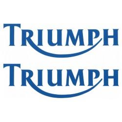 Stickerset Triumph blauw 10 cm