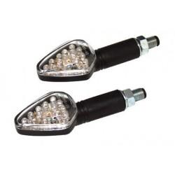 Knipperlichtset Harpoon zwart met helder glas LED