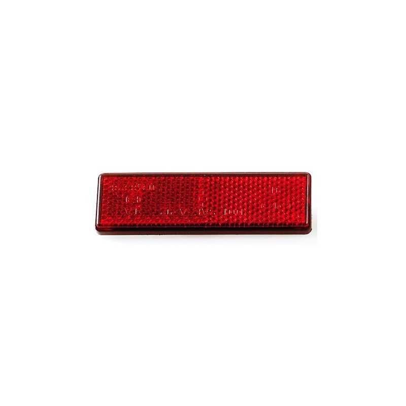 Reflector rood rechthoekig smal