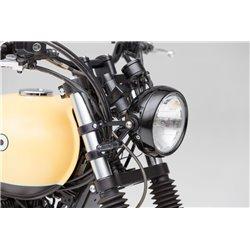 LSL Six Days headlight, black/black H4 clear glass