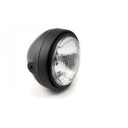 LSL Scrambler headlight, corrugated glass/H4, black-matt
