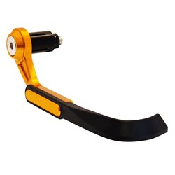 BikeTek Lever Control Guards CNC Gold / Black ABS Tip