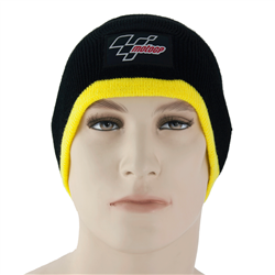 Motogp Beanie Hat Black / Yellow Trim