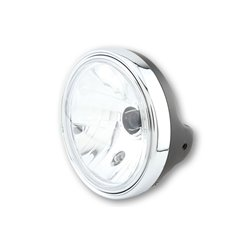 Koplamp 200mm matzwart/chroom (Prism glas) H4