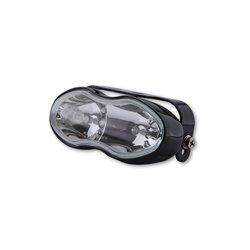 Mistlamp + grootlicht 152mm zwart/clear H3