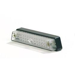 Mist achterlicht LED transparant (lange kabel)
