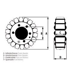 Stator ESG097 (voor dynamo)