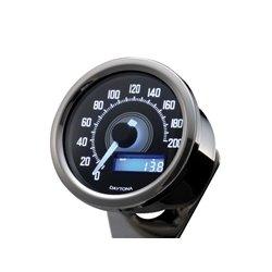 Snelheidsmeter Digitaal Velona chroom (200kmh)