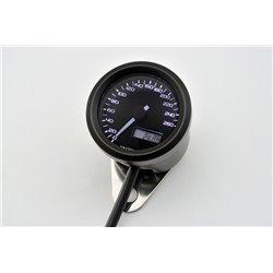 Snelheidsmeter Digitaal Velona chroom/zwart 260kmh