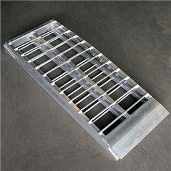 Oprijplaat aluminium Wide zilver