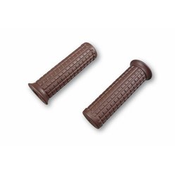 Custom Old Style Grips 1 inch (25,4 mm) donkerbruin paar