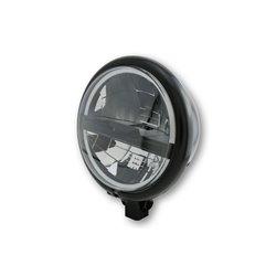 """Koplamp 5,75"""" LED Bates Style type-5 zwart"""
