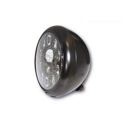 Koplamp 7� LED HD-Style type-1 zwart (achterbevestiging)