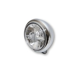 Koplamp 7� LED HD-Style chroom (achterbevestiging)
