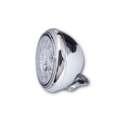 Koplamp 7� LED HD-Style type-1 chroom (achterbevestiging)