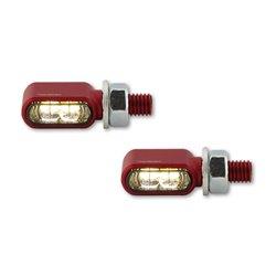 Knipperlichten met positielicht LED Little Bronx rood