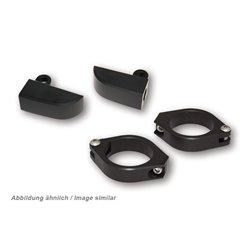 Klemmen/beugels knipperlichten (m8 draad) 49/50/52/54mm zwart