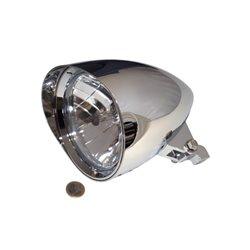 Koplamp 5,75� Classic 1 Cap chroom (onderbevestiging)H4