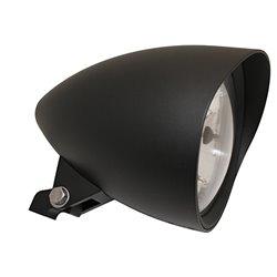 Koplamp 5,75� Classic 1 Cap zwart (onderbevestiging) H4
