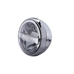 Koplamp 7� LED British Style Type-4 chroom