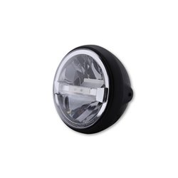 Koplamp 7� LED British Style Type-4 zwart