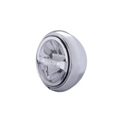 Koplamp 7� LED HD-Style Type-4 chroom (onderbevestiging)