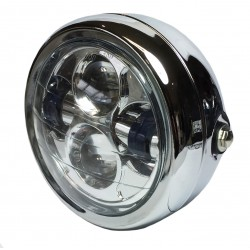 "Koplamp LED 6,5"" chroom"