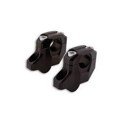 Stuurverhogers Gonia ø22mm zwart 25mm/17mm