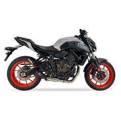 Compleet uitlaatsysteem MK2 Zwart | Yamaha MT-07/Tracer/XSR