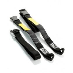 Rokstraps bagage bevestiging zwart/zilver 16mm