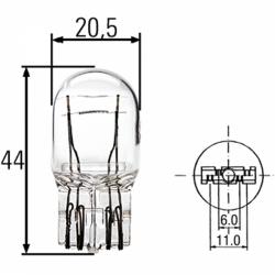Steeklamp 21/5W groot