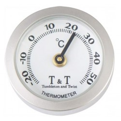 Thermometer Analoog zilver-wit